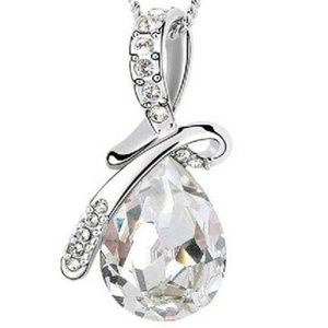 Necklace - Angel Tears Clear White Gem